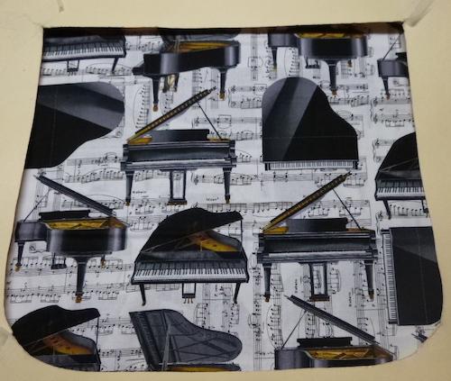 Pianos Pick your Size Morphin Messenger Bag Flap