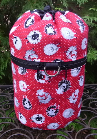 Pin Dot Sheep Kipster Knitting Project Bag