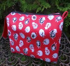 Pin Dot Sheep Accessory Bag, The Lily