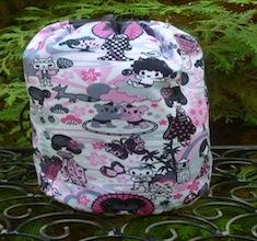 Pink kawaii SueBee Round Drawstring Bag
