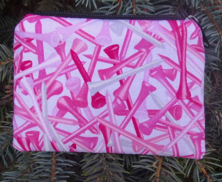 Pink Golf Tees Coin Purse, The Raven