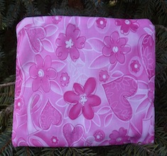 Pink awareness ribbons zippered bag, The Scooter