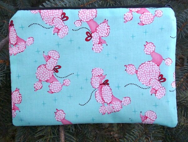 Pink Poodles zippered bag, The Scooter