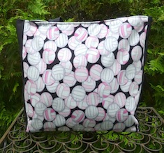 Pink Volleyballs Medium Fleur Tote
