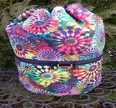 Pinwheels knitting project bag, large Kipster