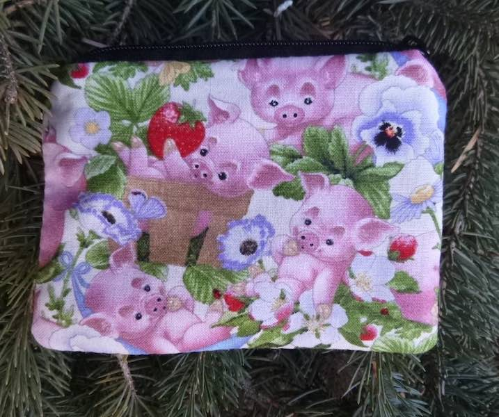 Playful Piglets coin purse, The Raven