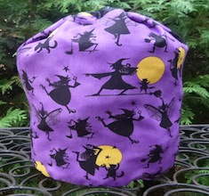 lWitches and Cats SueBee Round Drawstring Bag