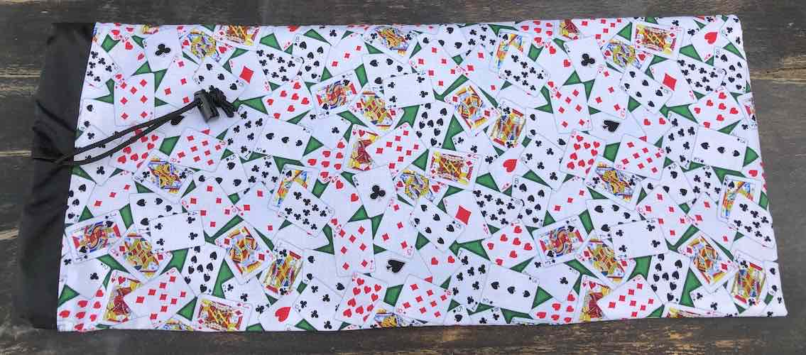 Playing Cards drawstring bag for canasta racks and card spinner, the Racker Jr