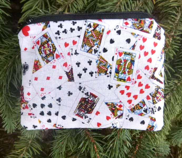 Deck of Playing Cards Coin Purse, The Raven