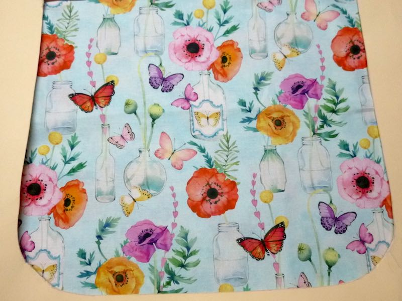Poppies and Butterflies Pick your Size Morphin Messenger Bag Flap