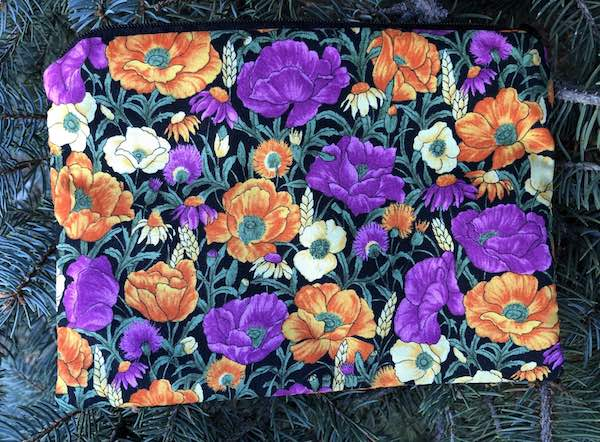 Prairie Flowers zippered bag, The Scooter