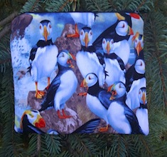 Puffins zippered bag, The Scooter