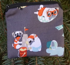 Pugs Day Off Coin Purse, The Raven