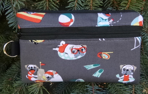 Pugs Day Off Mini Wallet Purse Organizer, The Sweet Pea