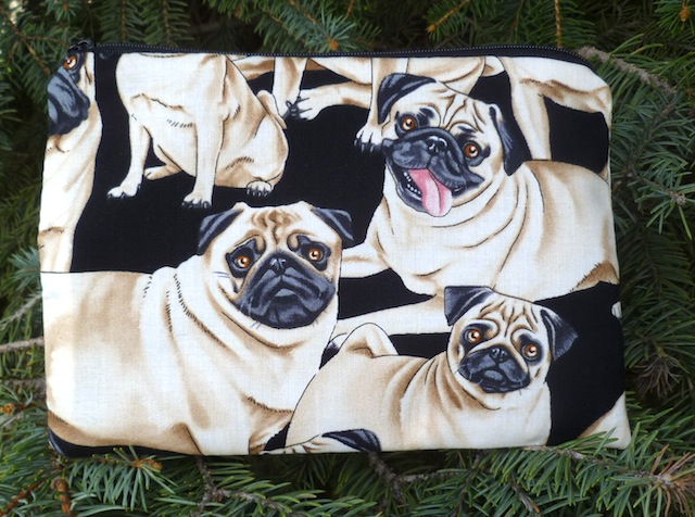 Pugs zippered bag, The Scooter
