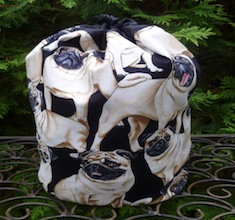 Pugs SueBee Round Drawstring Bag