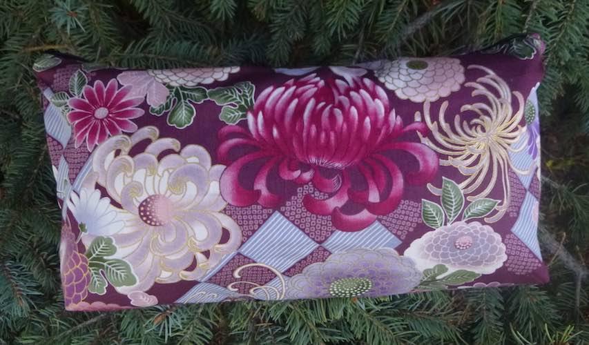 Purple Japanese Mums Large Zini Flat Bottom Bag