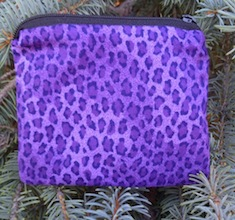 Purple Leopard Spots Coin Purse, The Raven