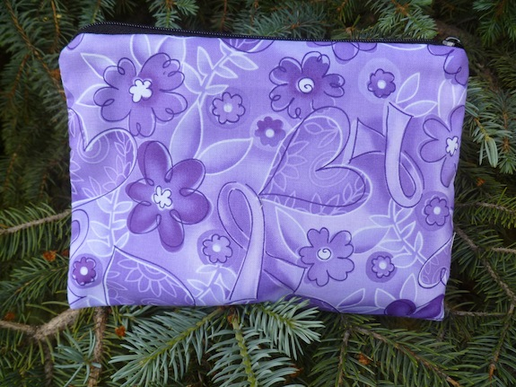 Purple ribbons Zippered Bag, The Scooter
