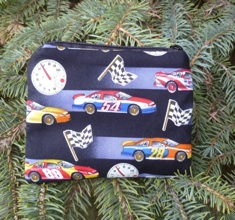 Race cars and clock Coin Purse, The Raven