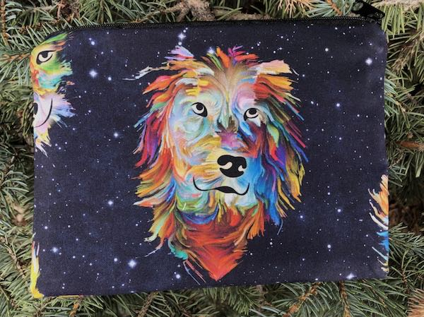 Rainbow Dogs zippered bag, The Scooter