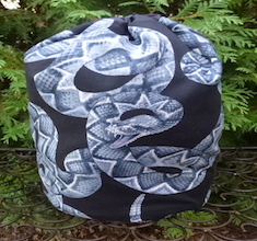 Rattlesnake drawstring bag, The Large Suebee
