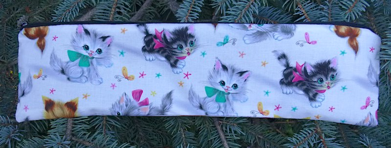 Retro Kitties Long Knitting Needle Pouch, The Stitch