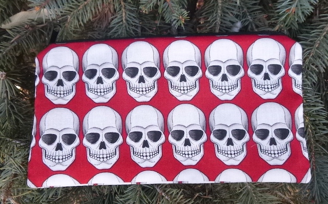 Robo Skulls Deep Scribe pen and pencil case, red or black