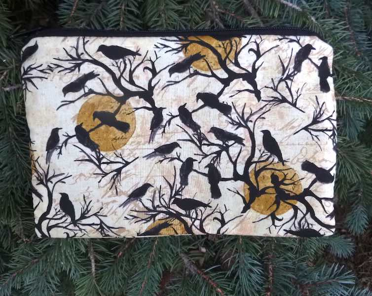 Roosting Ravens zippered bag, The Scooter