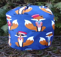 Sailor Foxes SueBee Round Drawstring Bag-CLEARANCE