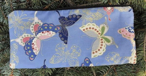 Sakura Butterflies Deep Scribe pen and pencil case