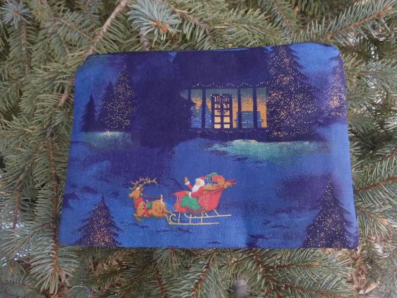 Santa's Visit zippered bag, The Scooter