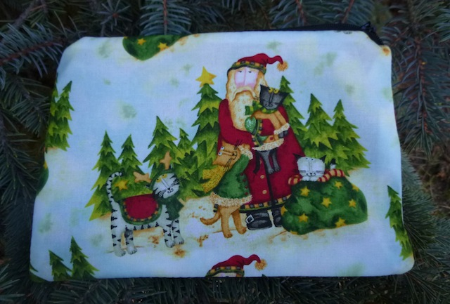 Santa's Kitties zippered bag, The Scooter
