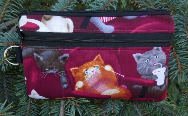 Scaredy Cat Mini Wallet Purse Organizer, The Sweet Pea