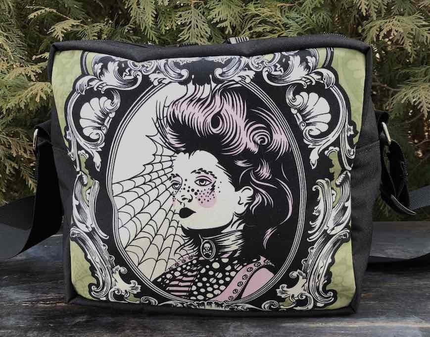 Scarlett Von Black in absinthe  Shoulder Bag, The Raccoon