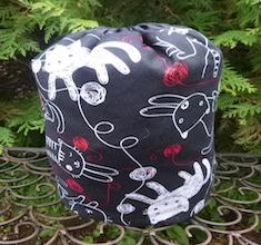 Sketchy Cats and Yarn SueBee Round Drawstring Bag
