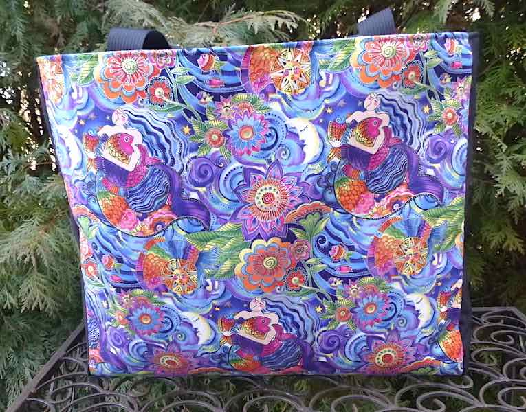 Laurel Burch Sea Goddess Medium Fleur Tote, wide