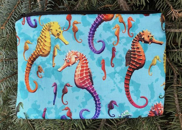 Colorful Seahorses zippered bag, The Scooter