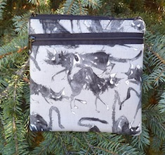 Sebastian Ghastlie convertible clutch, wristlet or shoulder bag, The Squirrel