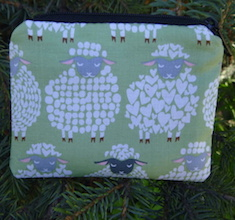 Sheepish Smile Coin Purse, The Raven, pick your color
