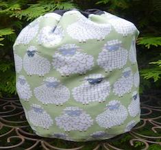Sheepish Smile SueBee Round Drawstring Bag, Pick Your Color