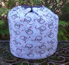 Sheep Tangle SueBee Round Drawstring Bag