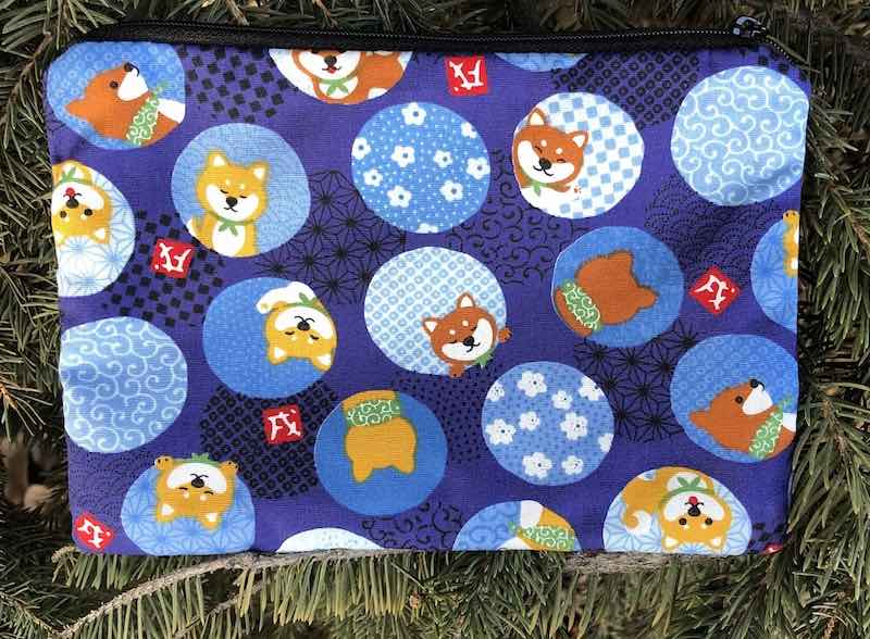 Shiba Inu in Circles zippered bag, The Scooter