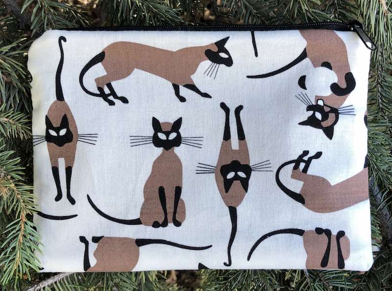 Siamese Cats zippered bag, The Scooter