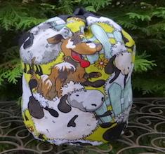 Silly Sheep SueBee Round Drawstring Bag