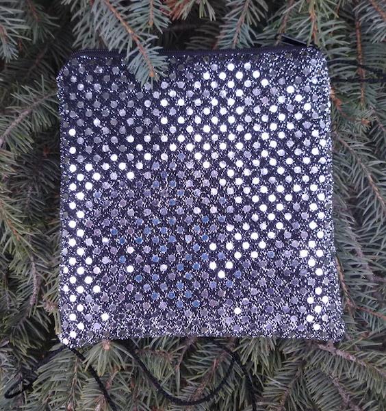 Silver Confetti Dots Wren, special occasion purse