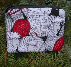 Skeins of Sheep Coin Purse, The Raven