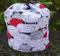 Skeins of Sheep SueBee Round Drawstring Bag