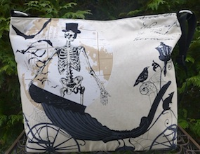 Skeleton's Carriage Britta zippered tote-CLEARANCE