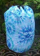Skulls and faux Tie Dye SueBee Round Drawstring Bag